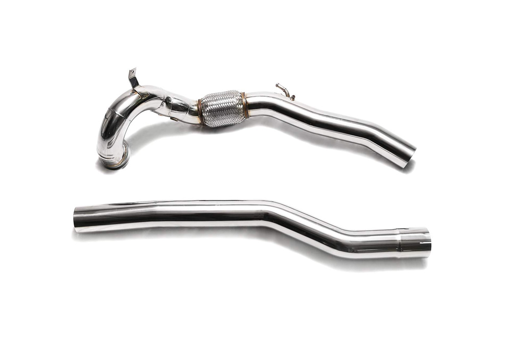 ARMYTRIX Sport Cat-Pipe w/200 CSPI Catalytic Converters / Secondary Downpipe Audi S3 8V   VW Golf R MK7 2013-2020 - AWVSR-CD