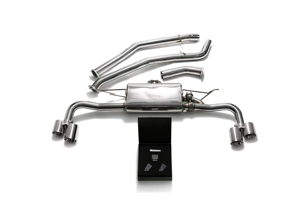 BMFX3-QS44C | ARMYTRIX Stainless Steel Valvetronic Catback Exhaust