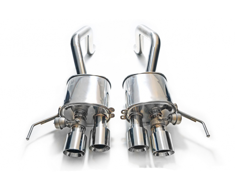 ARMYTRIX Stainless Steel Valvetronic Catback Exhaust System Chrome Silver Tips Chevrolet Corvette C7 14-19 - CZ6C7-QS28C