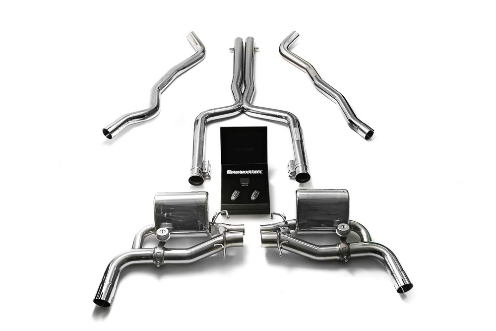 MB056-C | ARMYTRIX Stainless Steel Valvetronic Catback Exhaust