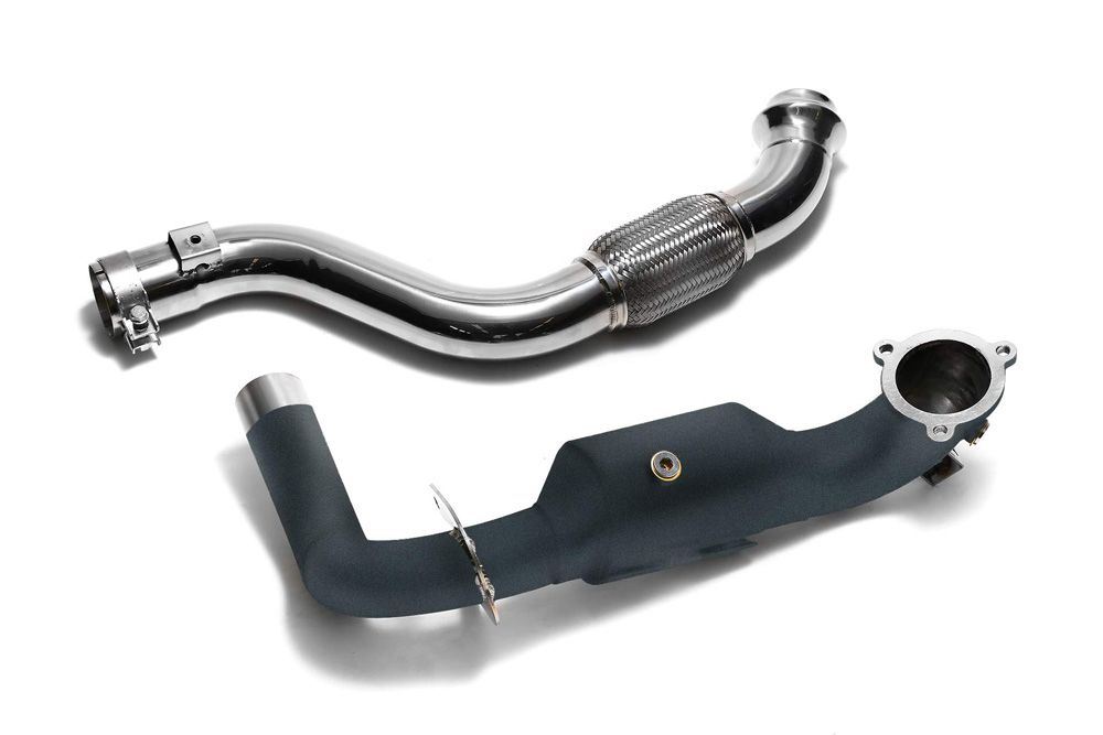 ARMYTRIX Ceramic Coated High-Flow Performance Race Downpipe | Link Pipe Mercedes-Benz A-Class | CLA-Class 13-18 - MB270-DDC