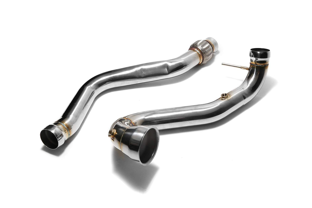 ARMYTRIX High-Flow Performance Race Downpipe | Link Pipe Mercedes-Benz A-Class | CLA-Class | GLA-Class AMG 13-18 - MBA45-DD
