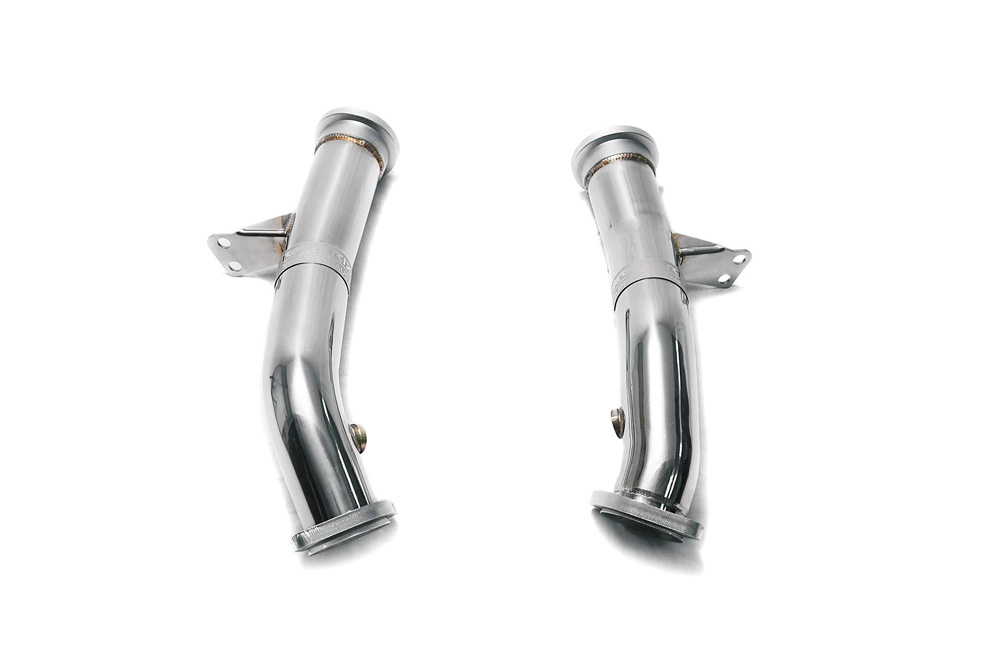 ARMYTRIX Race Downpipe w/Cat-Simulator Mercedes-Benz RHD W205 15-18 - MBC45-RDD