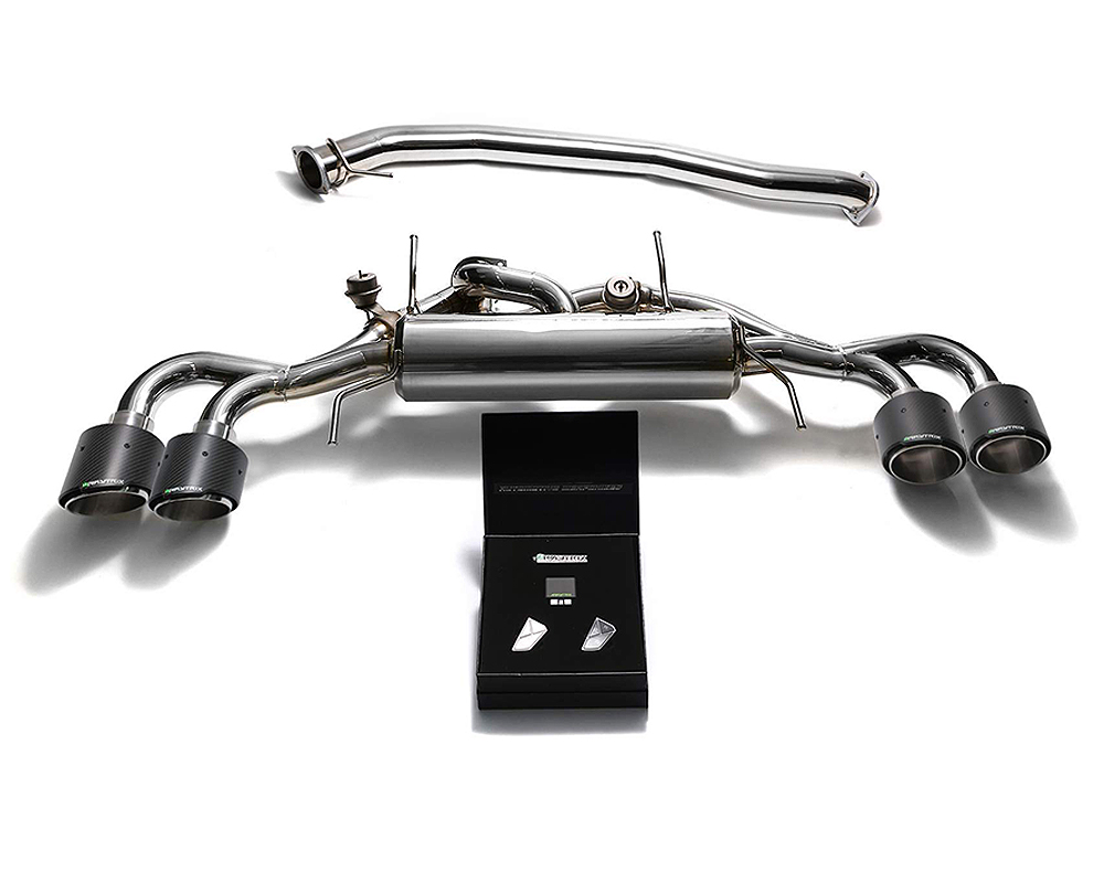 ARMYTRIX Stainless Steel Valvetronic Catback Exhaust 90mm System Quad Carbon Tips Nissan GT-R R35 09-19 - NI35S-QC47