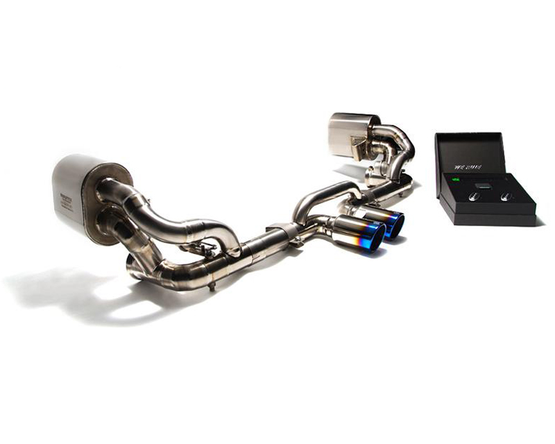 ARMYTRIX Stainless Steel Valvetronic Exhaust System Dual Matte Black Tips Porsche 991 GT3 | GT3 RS 14-19 - P91GS-DS38M