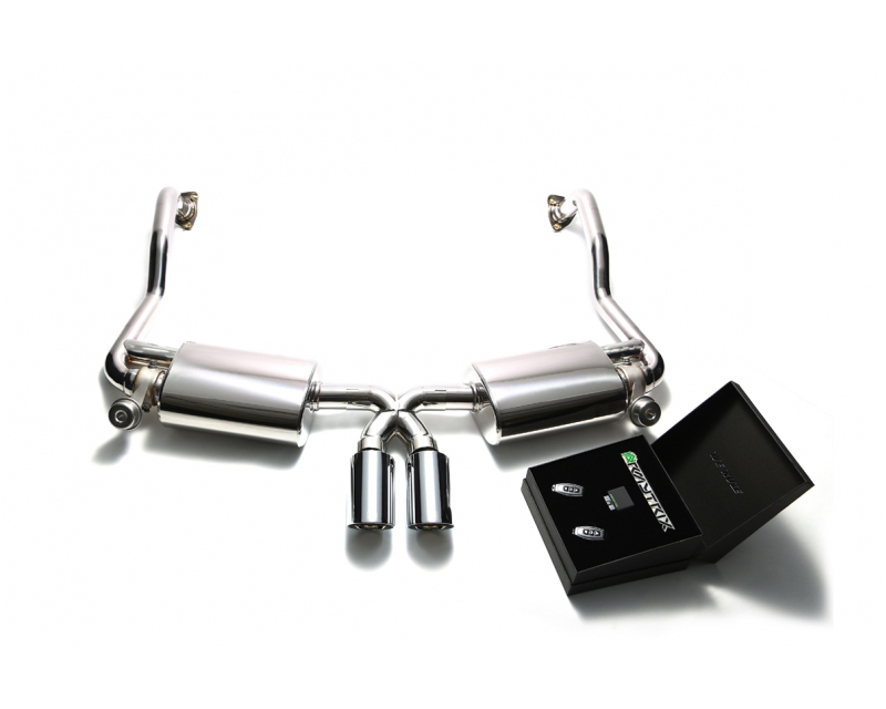 ARMYTRIX Stainless Steel Valvetronic Exhaust System Dual Chrome Silver Tips Porsche 987.2 Boxster | Cayman PDK 09-12 - P87N2-DS25C