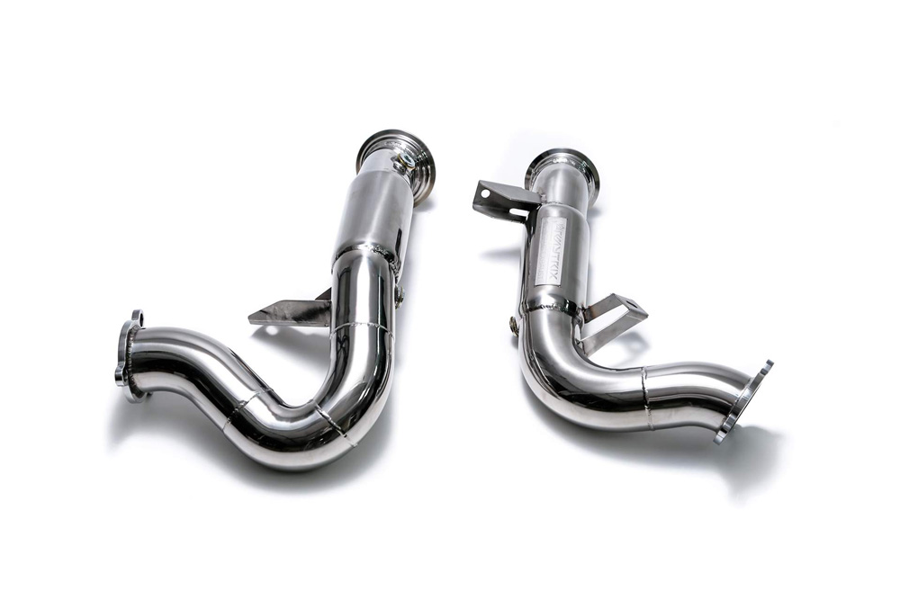 ARMYTRIX High-flow Performance Race Downpipe w/Cat-Simulator Porsche 95B Macan 15-20 - PM36T-DD