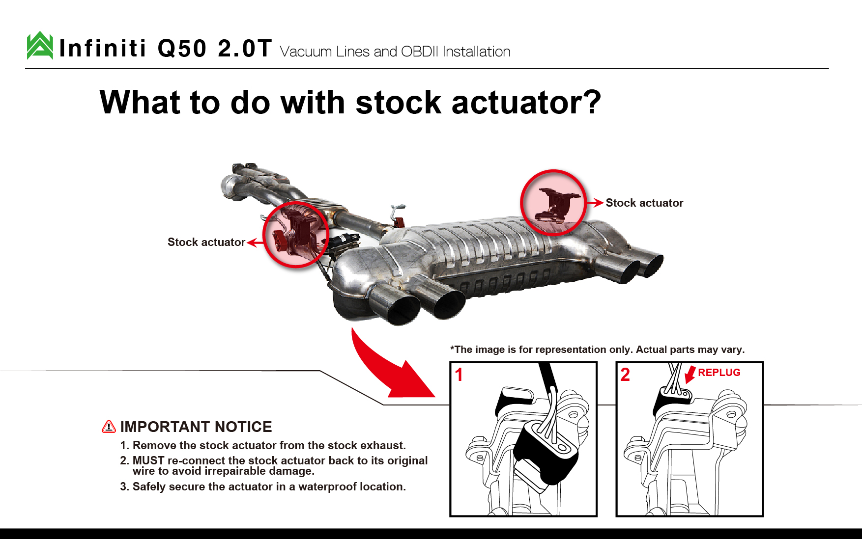 Armytrix Infiniti Installations Usa Exhaust Systems Vacuum Diagram Download Pdf Here Q50 Wiring Instruction Manual
