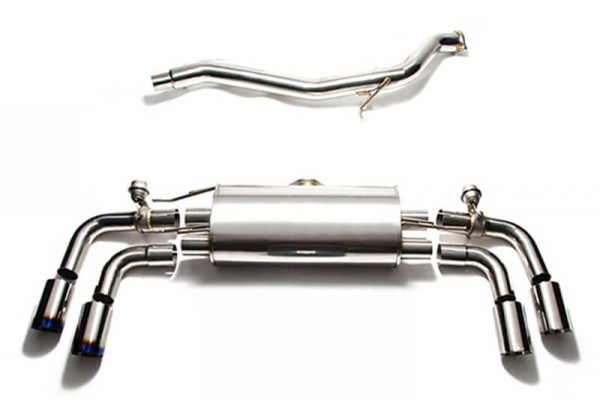 ARMYTRIX Stainless Steel Valvetronic Catback Exhaust System Quad Chrome Tips Audi TT | TTS Quattro MK2 8J 4WD 07-14