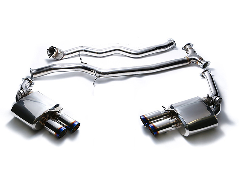 Armytrix Stainless Steel Valvetronic Catback Exhaust System Quad Chrome Coated Tips Audi A4 A5