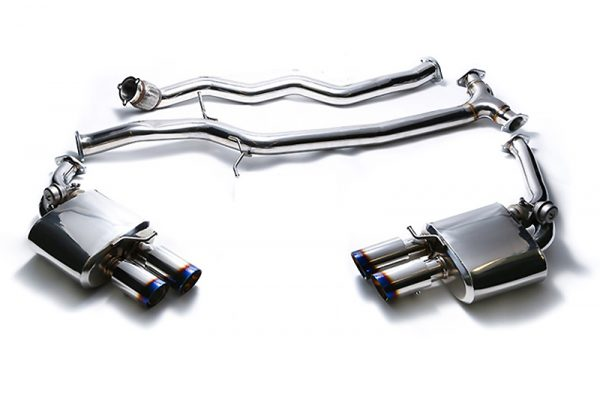ARMYTRIX Stainless Steel Valvetronic Catback Exhaust System Quad Chrome Silver Tips Audi A5 | A5 Quattro 08-15