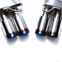 ARMYTRIX Stainless Steel Valvetronic Catback Exhaust System Quad Matte Black Tips Audi A5   A5 Quattro 08-15