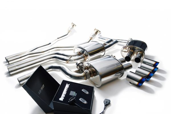 ARMYTRIX Stainless Steel Valvetronic Catback Exhaust System Quad Chrome Silver Tips Audi A4/A5 | S4/S5 3.0L TFSI 09-15