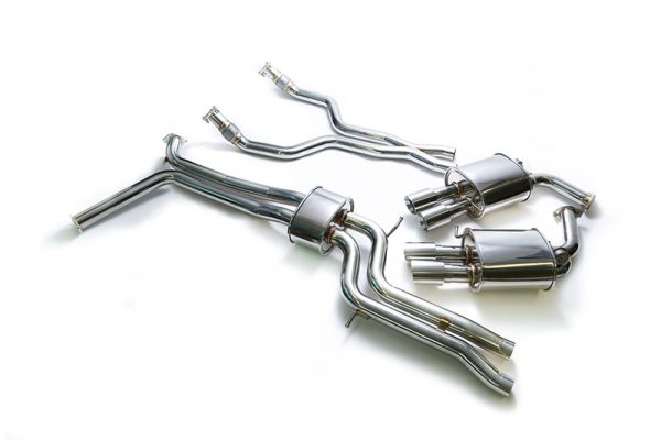 ARMYTRIX Stainless Steel Valvetronic Catback Exhaust System Quad Chrome Coated Tips Audi A6 | A7 C7 3.0 TFSI V6 11-17
