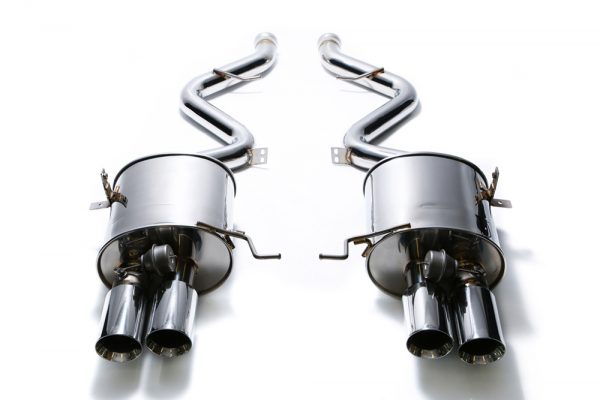 ARMYTRIX Stainless Steel Valvetronic Catback Exhaust System Quad Matte Black Tips BMW M3 E9x 08-13