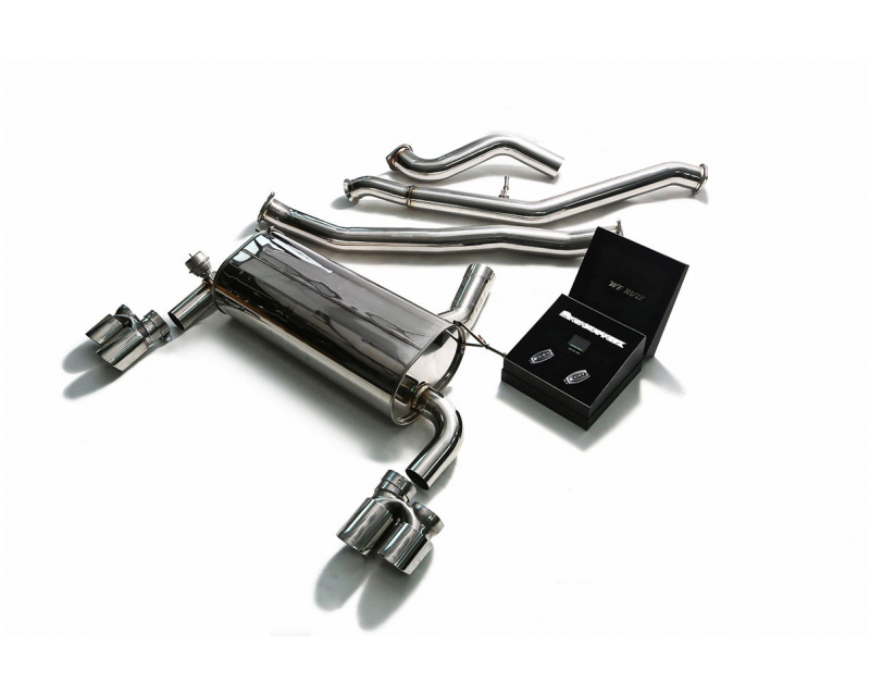 ARMYTRIX Stainless Steel Valvetronic Catback Exhaust System Dual Matte Black Tips BMW 335i GT F34 13-16