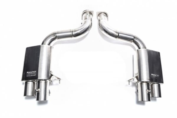 ARMYTRIX Titanium Valvetronic Catback Exhaust System Quad Matte Black Tips Ferrari 599 06-12