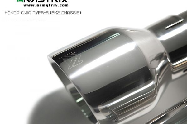 ARMYTRIX Stainless Steel Valvetronic Catback Exhaust System Quad Matte Black Tips Honda Civic Type R FK 14-17