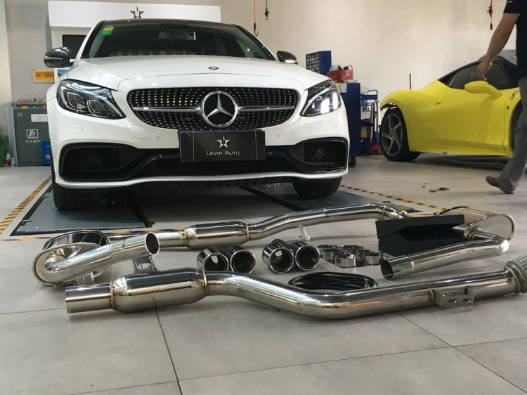 Armytrix Stainless Steel Valvetronic Catback Exhaust System Mercedesbenz Cclass W205 Lhd 1518: Mercedes C250 Exhaust At Woreks.co