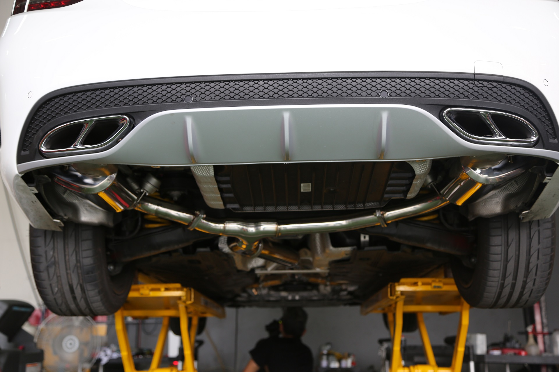 Armytrix stainless steel valvetronic catback exhaust for Mercedes benz performance exhaust