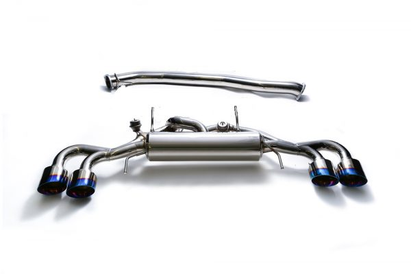 ARMYTRIX Stainless Steel Valvetronic Catback Exhaust System Quad Matte Black Tips Nissan GT-R R35 09-17