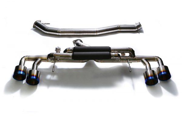 ARMYTRIX Titanium Valvetronic Catback Exhaust Quad Matte Black Tips Nissan GT-R R35 09-17
