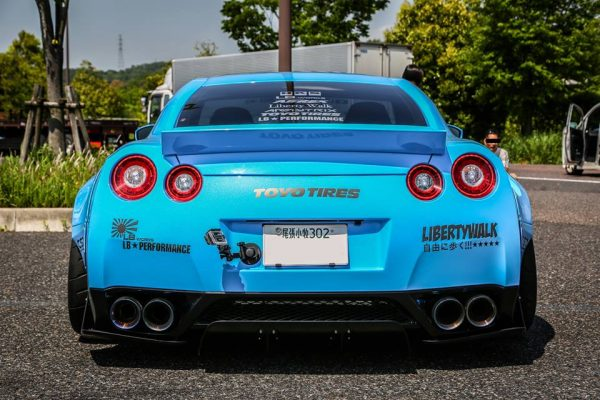 ARMYTRIX Stainless Steel Valvetronic Catback Exhaust System Quad Titanium Blue Tips Nissan GT-R R35 09-17