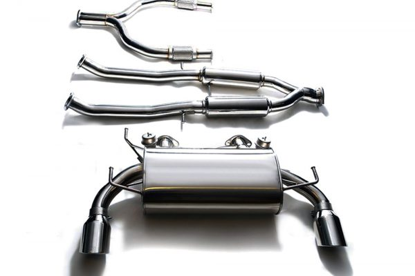 ARMYTRIX Stainless Steel Valvetronic Catback Exhaust System Dual Chrome Silver Tips Infiniti G37 S Coupe 08-13