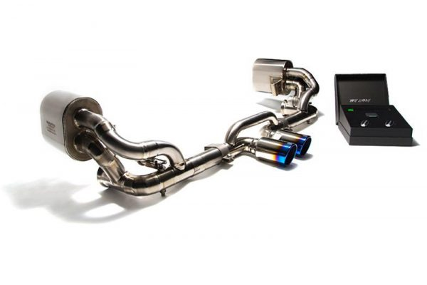 ARMYTRIX Stainless Steel Valvetronic Exhaust System Dual Chrome Silver Tips Porsche 991 GT3 | GT3RS 14-16