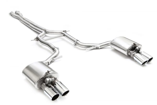 ARMYTRIX Stainless Steel Valvetronic Exhaust System Quad Matte Black Tips Porsche 970 Panamera | S 10-17