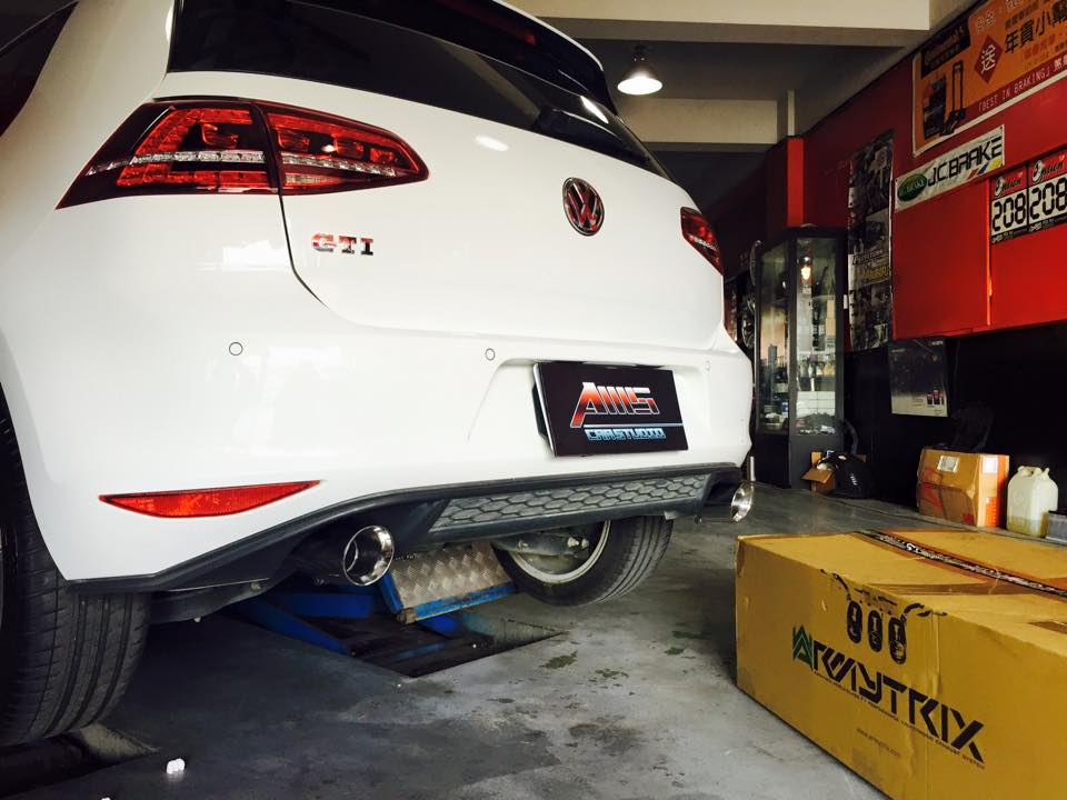 Armytrix Stainless Steel Valvetronic Catback Exhaust System Dual Chrome Tips Volkswagen Golf Gti Mk7 14: Golf Gti Exhaust Upgrade At Woreks.co