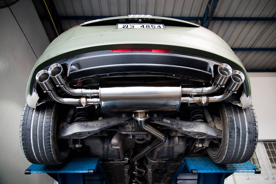 Armytrix Stainless Steel Valvetronic Catback Exhaust System Quad Matte Black Coated Tips Audi Tt Mk2 8j: Audi Tt Performance Exhaust Systems At Woreks.co